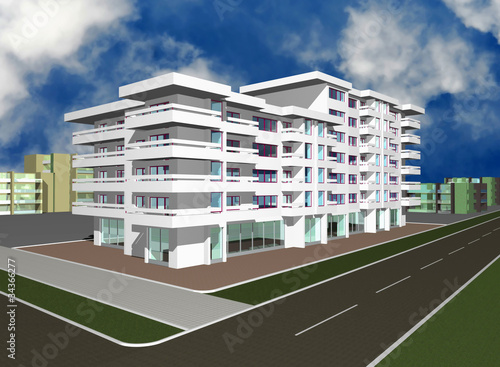 3d render of modern building