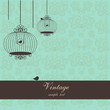 vintage design with birdcages