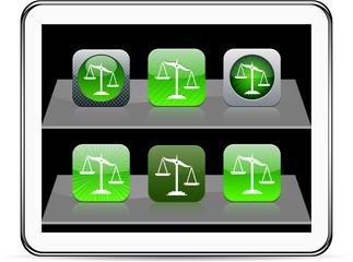 Balance green app icons.