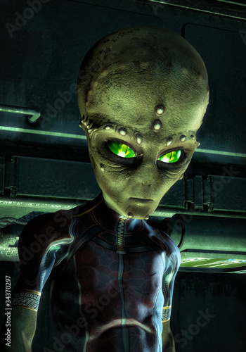 alien invader green