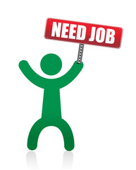 need a job banner and icon illustration