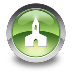"Green Glossy Pictogram ""Chapel"""