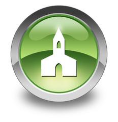 "Green Glossy Pictogram ""Chapel"""