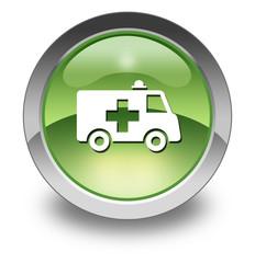 """Green Glossy Pictogram """"Ambulance"""""""