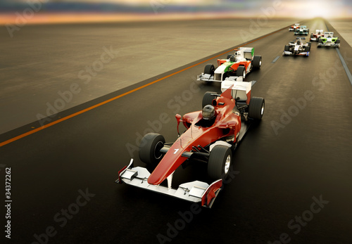 F1 Cars Poster