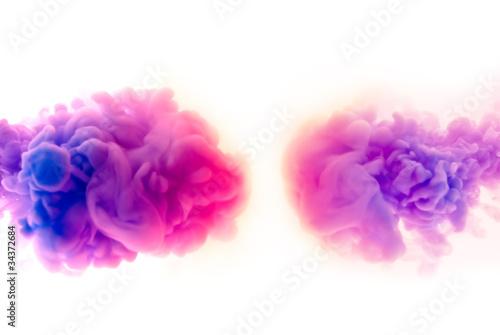 Farbpigmente partikel Wolke