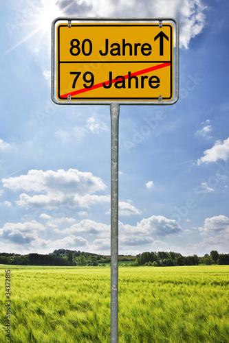80 jahre geburtstag jubil um stockfotos und - Geburtstagsbilder zum 25 ...