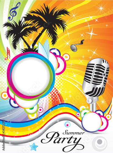 abstract summer party background