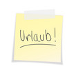 Urlaub, Post-It