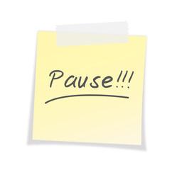 Pause, Post-It