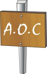 pancarte bois A.O.C.