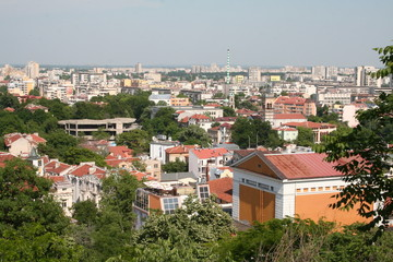 Areal View over Plovdiv, Bulgaria