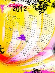 calendar 2012, vector