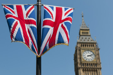 Union Flags and Big Ben