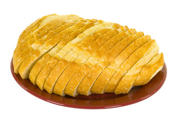 Sliced Sourdough Bread On Plate