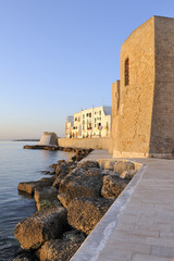 Dawn at the old city of Monopoli, Italy