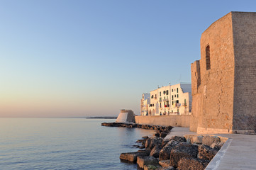Dawn in the old city of Monopoli, Italy