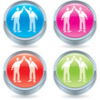 Business icon button-high five