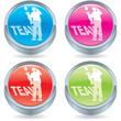 Business icon button-no i in team