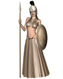 Pallas Athene Greek Goddess of War and Wisdom poster