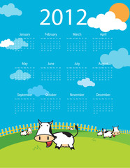 abstract calendar for 2012