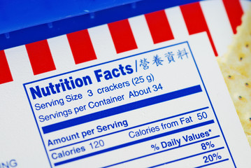 Nutrient Facts concepts of health diet