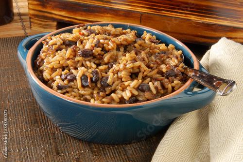 Fotobehang Granen Blackbeans and rice