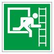 Rettungszeichen Fluchtweg Fluchtleiter Piktogramm Zeichen