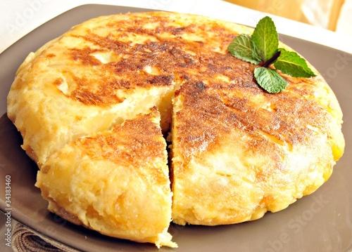 Fotobehang Restaurant Tortilla de patatas