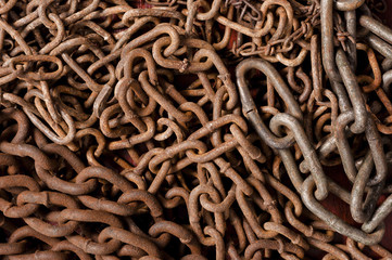 Rusty chain texture