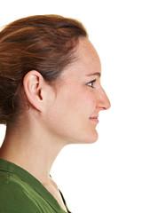 Profil einer jungen Frau