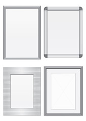 Vector illustration set of metal frames.