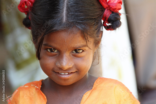 Smiling Indian Village Girl