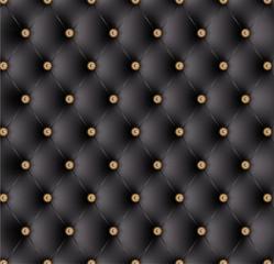 Capitonné noir boutons fantaisie-1