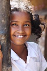 Beautiful Indian Village Girl smiling
