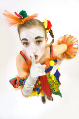 Clown - déguisement - Portrait secret