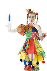 Clown - déguisement - seringue