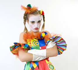 Clown - déguisement - bouder - déception