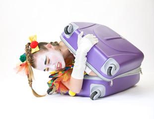 Clown - déguisement - contorsionniste