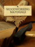 Woodworking materials poster