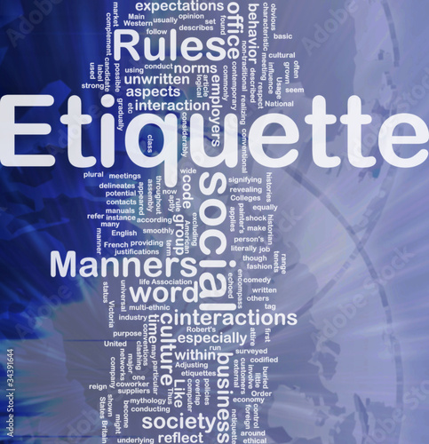 Etiquette background concept