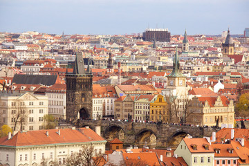 Old Prague city view