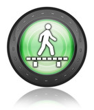 "Green Industrial Style Icon ""Walk On Boardwalk"""