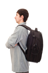 young man with a rucksack