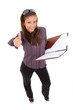 businesswoman with note
