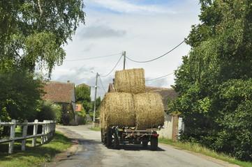 transport de paille