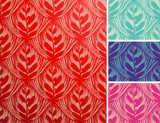 Seamless openwork floral pattern. poster