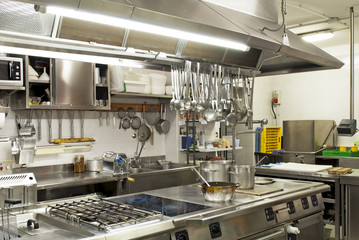 cucina in un ristorante