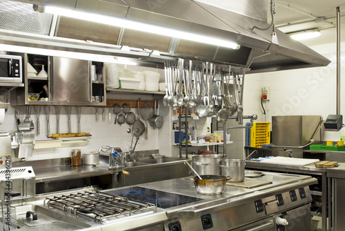 Foto op Canvas Koken cucina in un ristorante