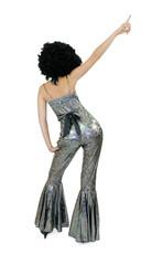 Disco - Femme dansant de dos en costume